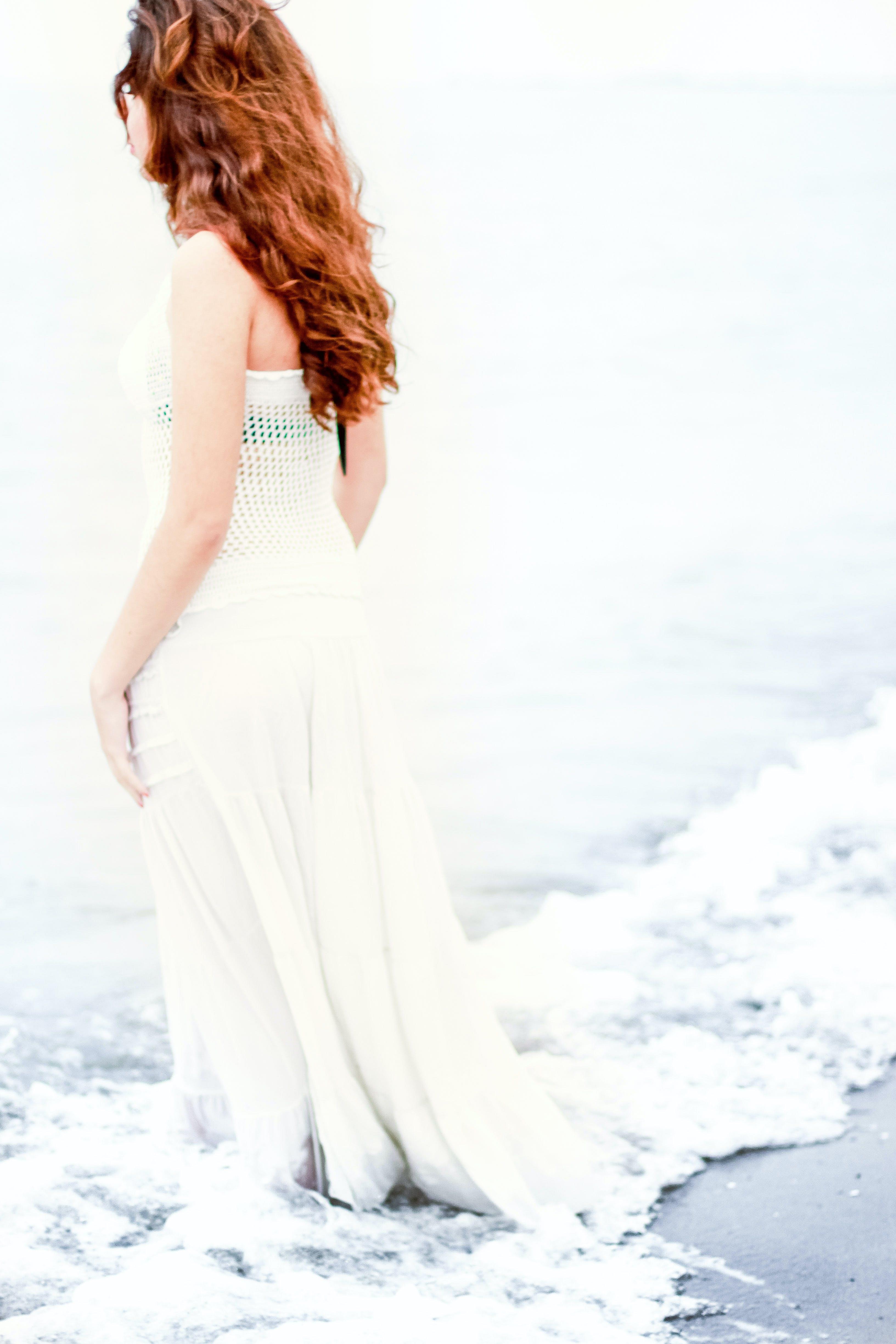 beach, female, model