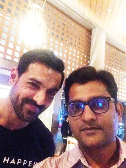Free stock photo of john Abraham Actor and me