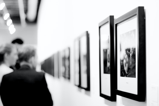Free stock photo of black-and-white, people, art, museum