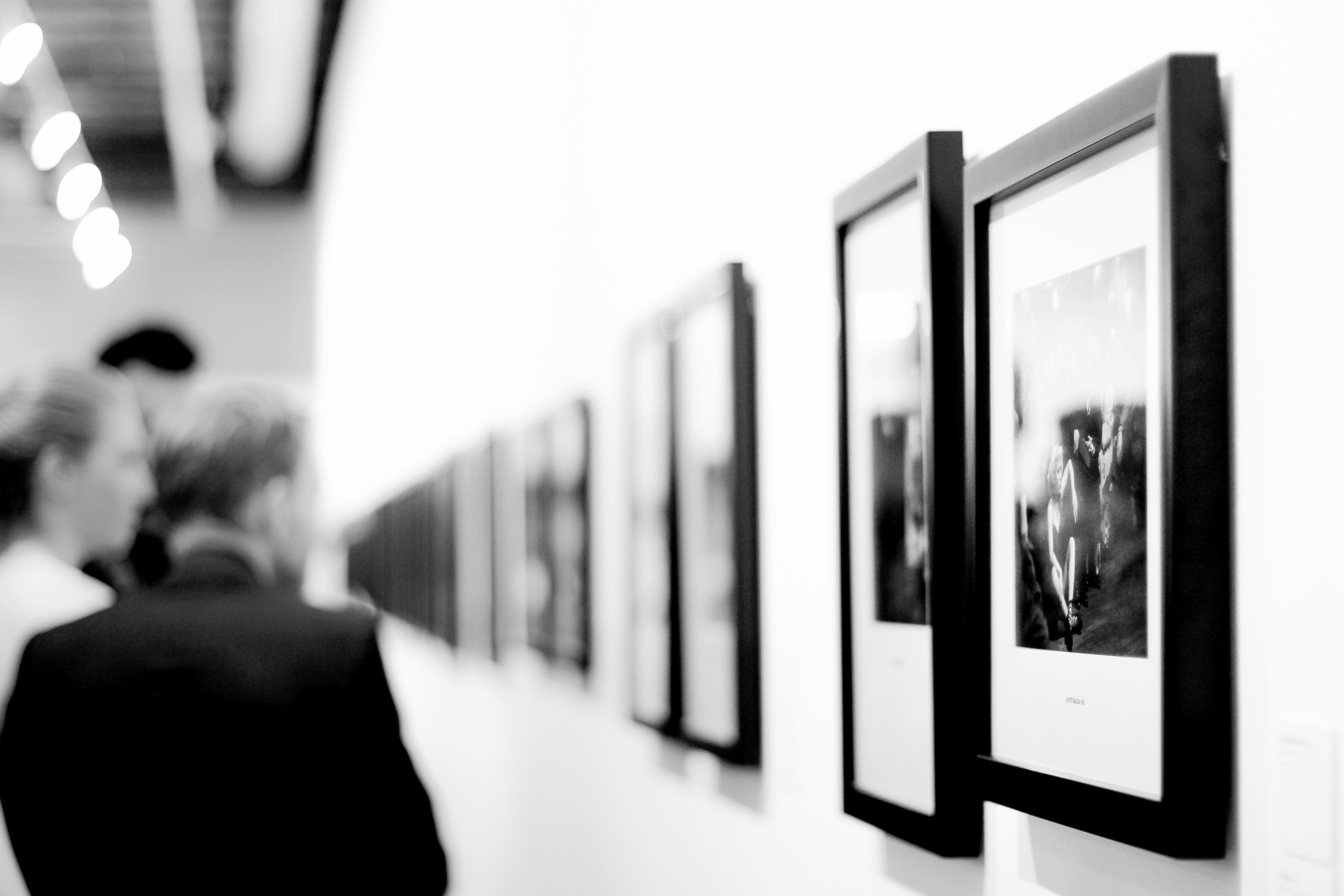 Grayscale Photography Of Paintings Free Stock Photo