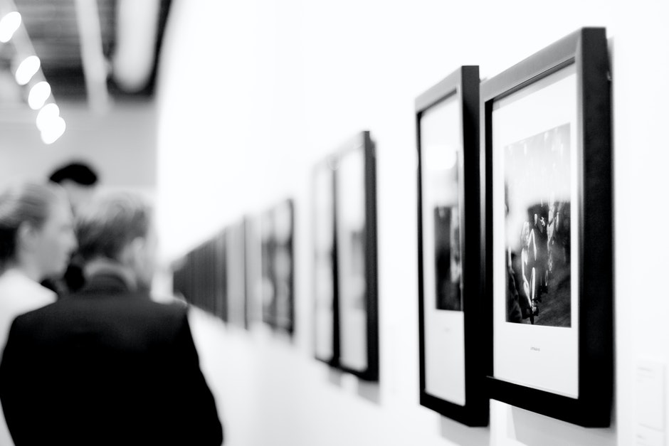 art, black-and-white, exhibition