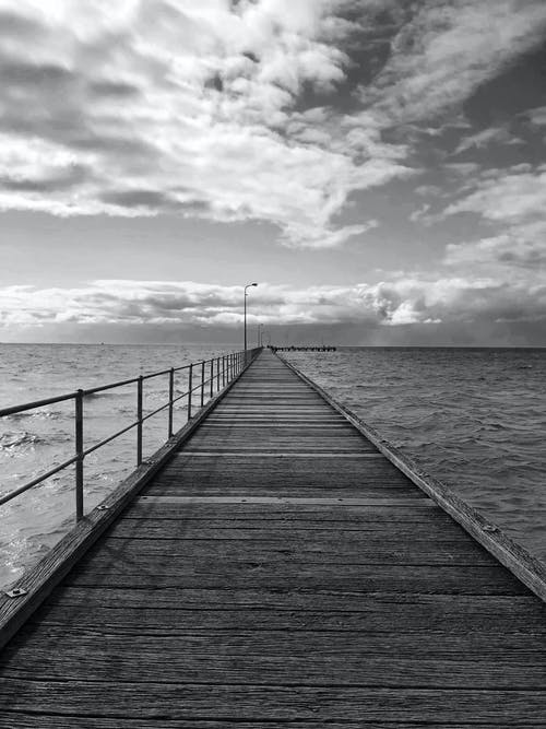 arka fon, bulutlar, İskele, plaj içeren Ücretsiz stok fotoğraf