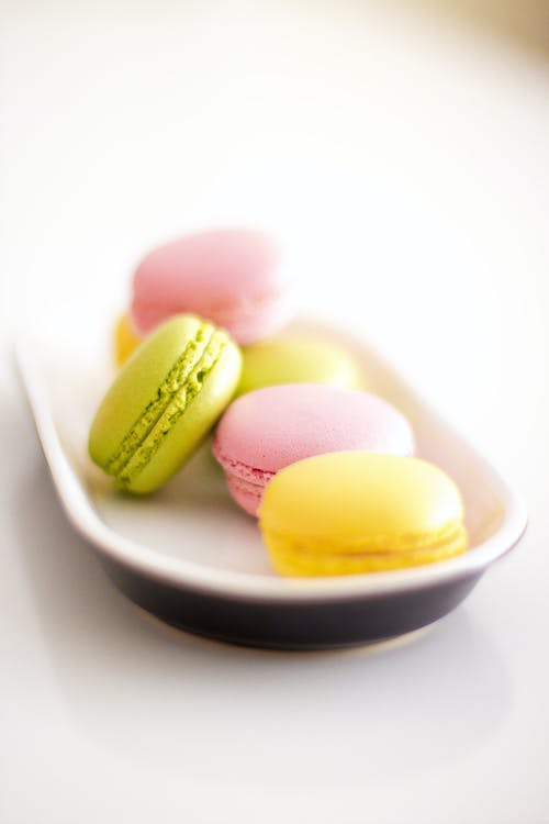 Yellow and Pink Macaroons