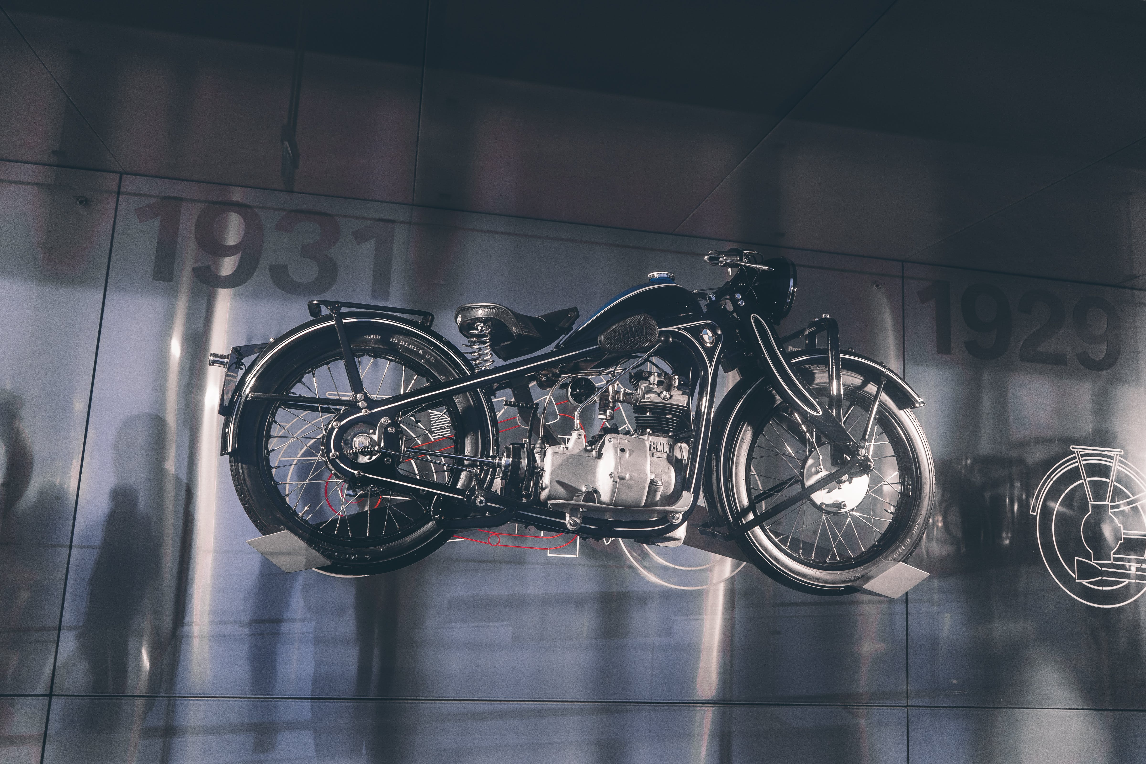 Black and Gray Motorcycle Scale Model