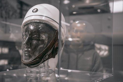 White and Black Helmet