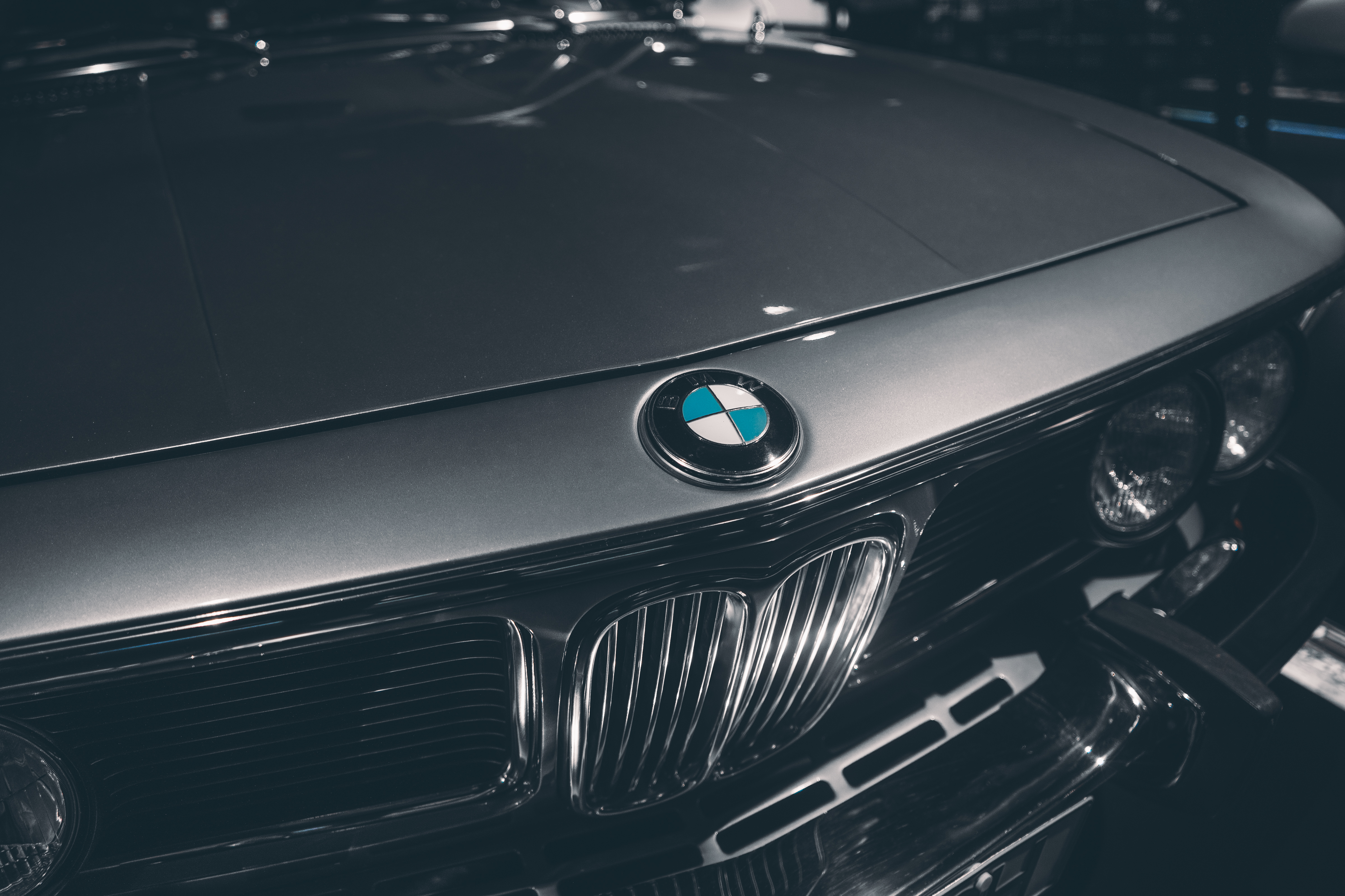 Grayscale Photography of BMW Car