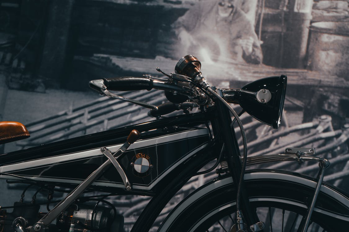 Selective Focus Photography of Black BMW Motorcycle