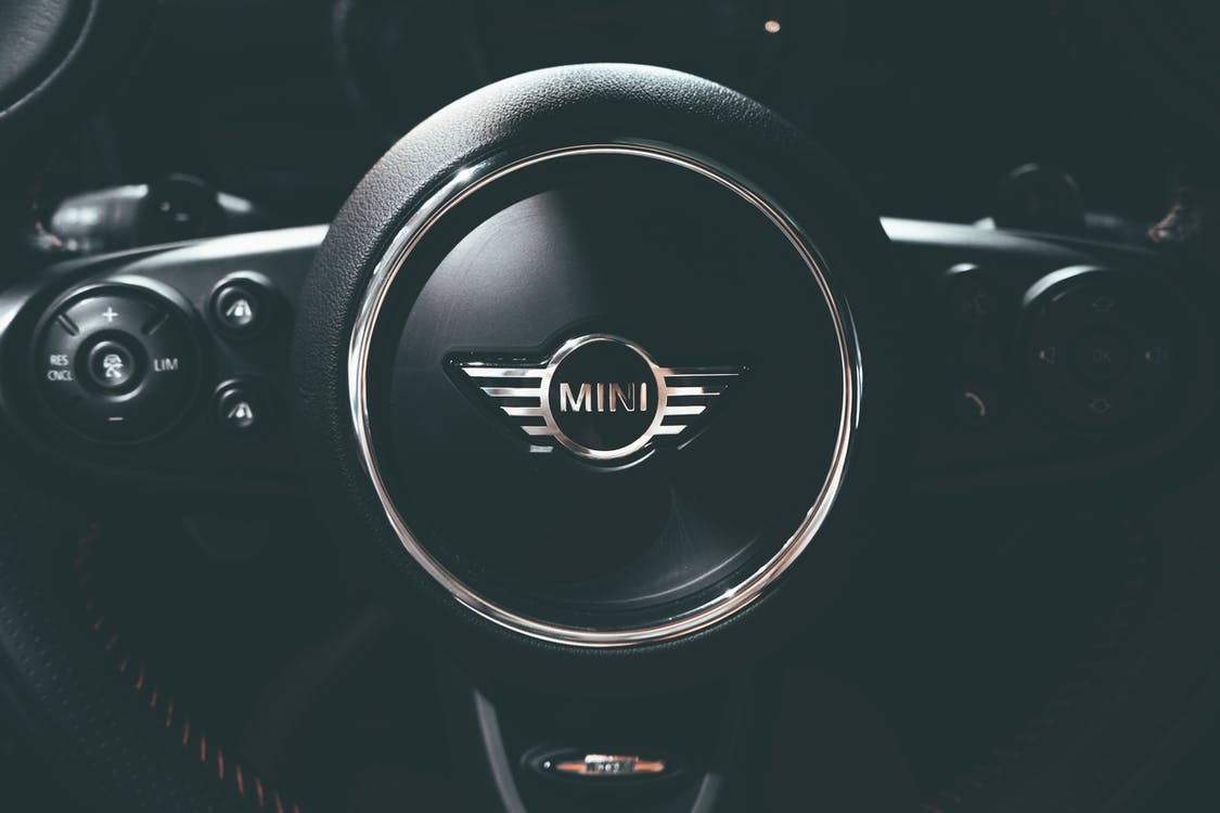 Black Mini Cooper Steering Wheel