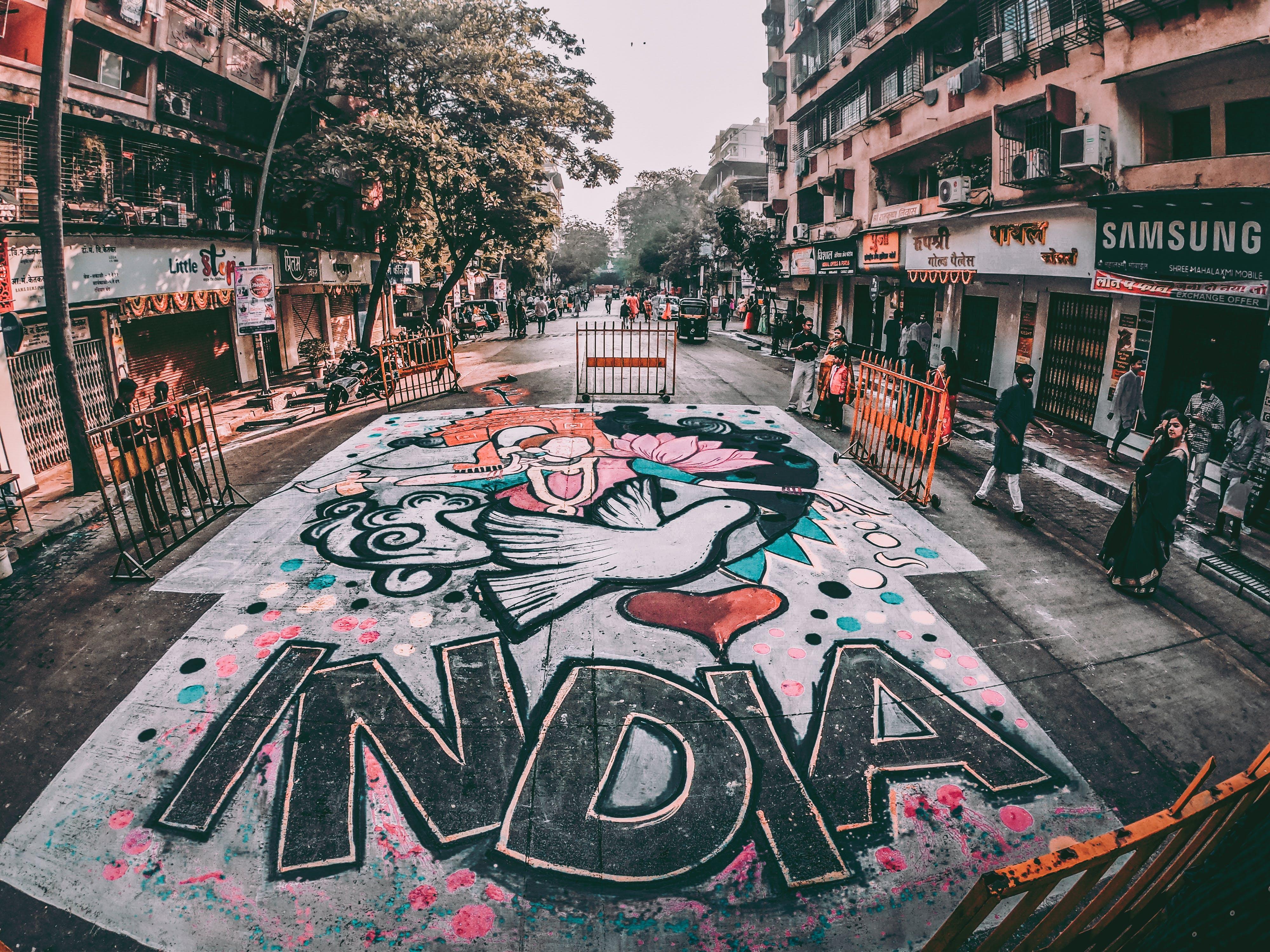India Graffiti Street Art