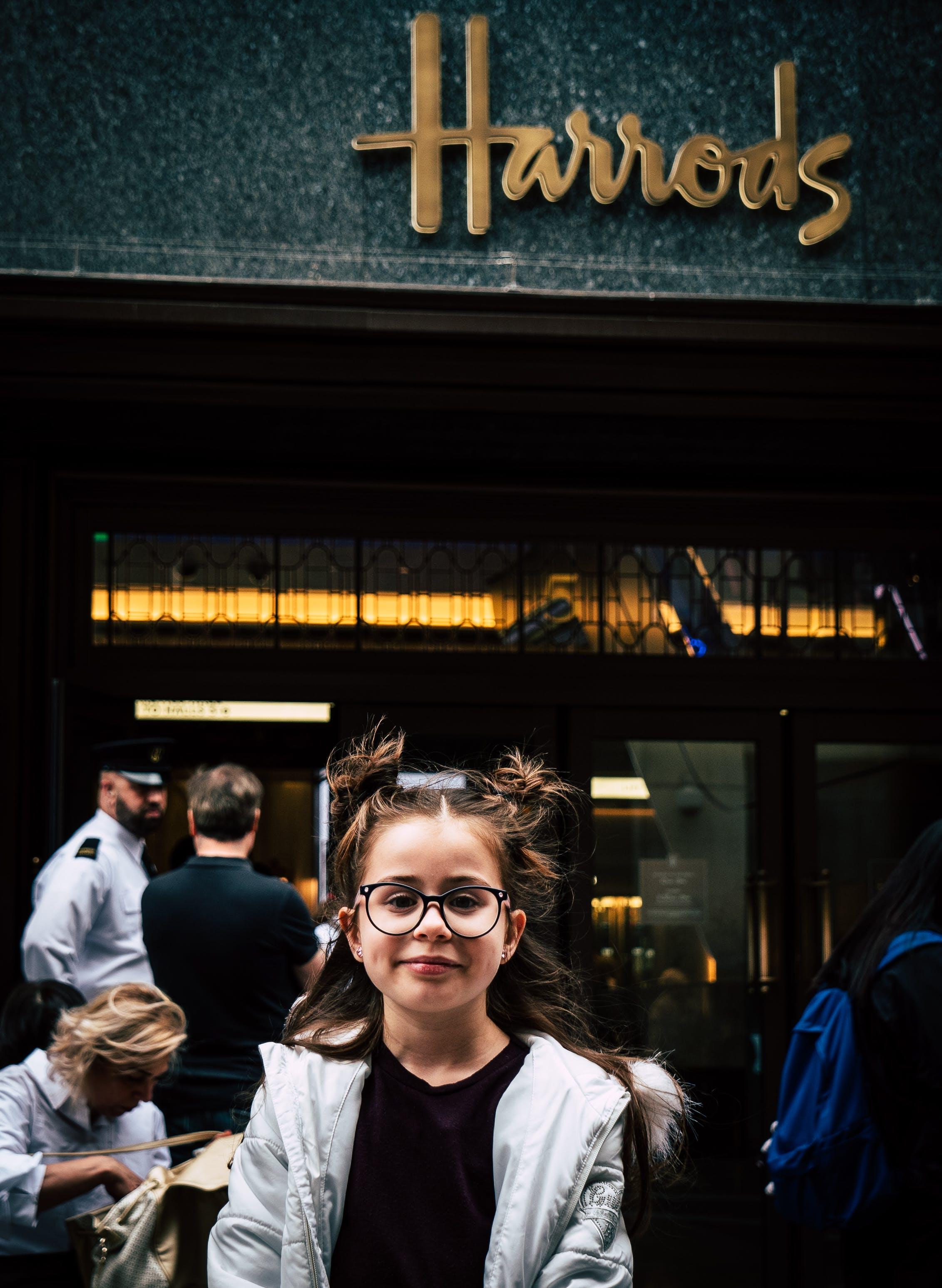 倫敦, 可愛, 可愛的女孩, 哈羅茲 的 免費圖庫相片