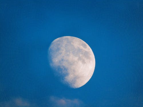 คลังภาพถ่ายฟรี ของ จันทรา, ท้องฟ้า, สีน้ำเงิน