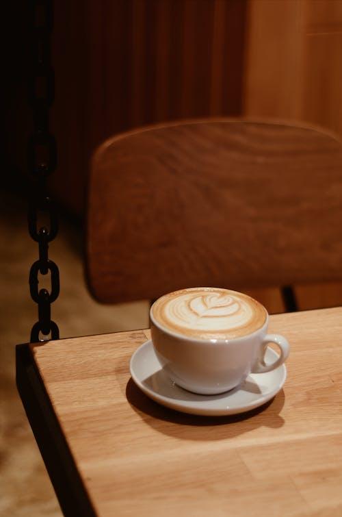 Бесплатное стоковое фото с блюдце, вкусный, капучино, кофе