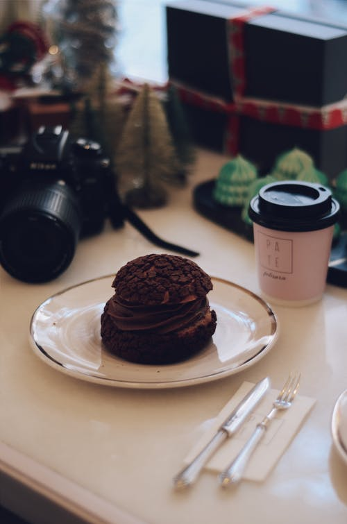 Photo Of Chocolate Cake On A Plate