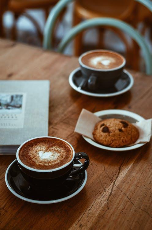 aperitivo, arte latte, café