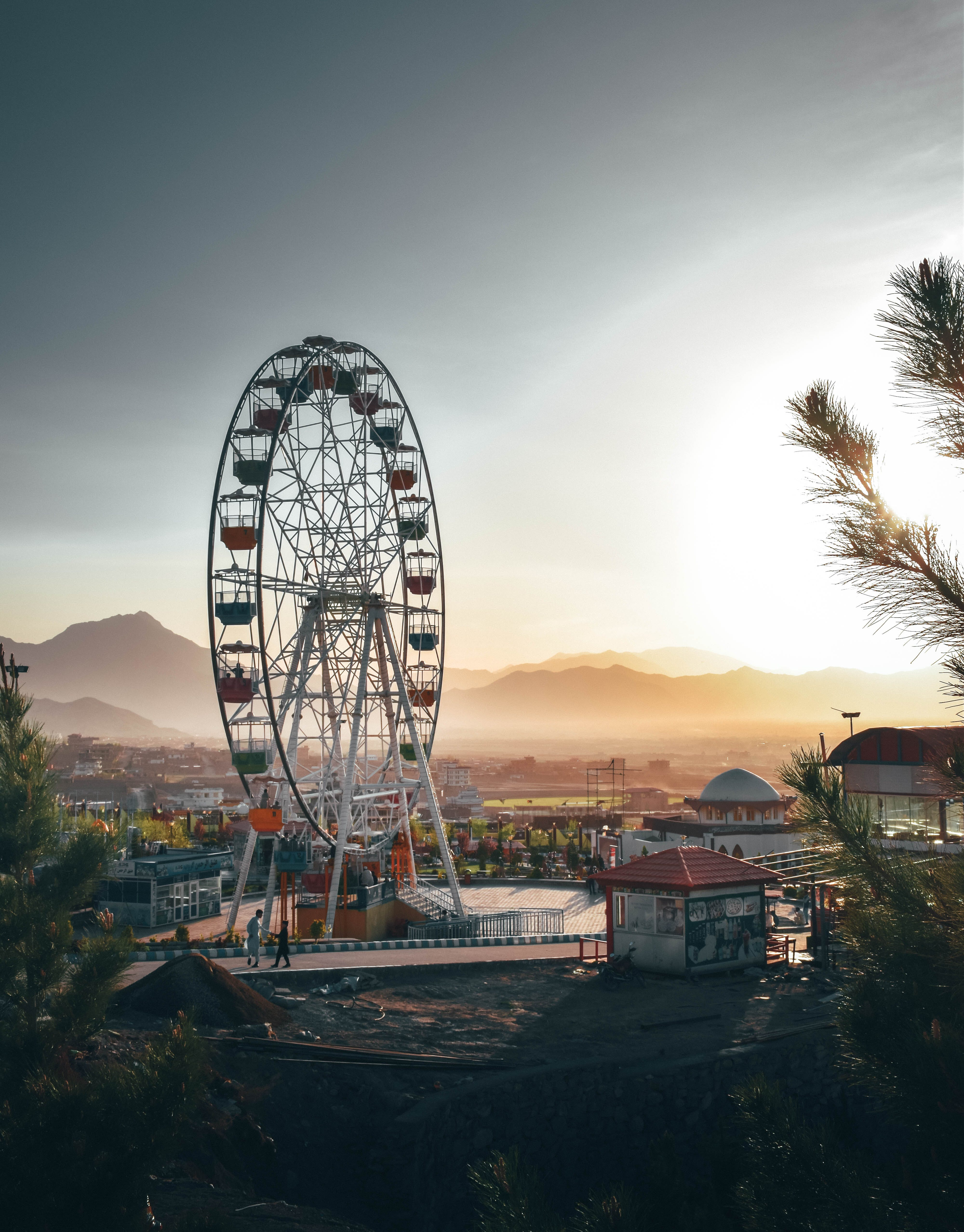 Photo of Ferris Wheel in Amusement Park