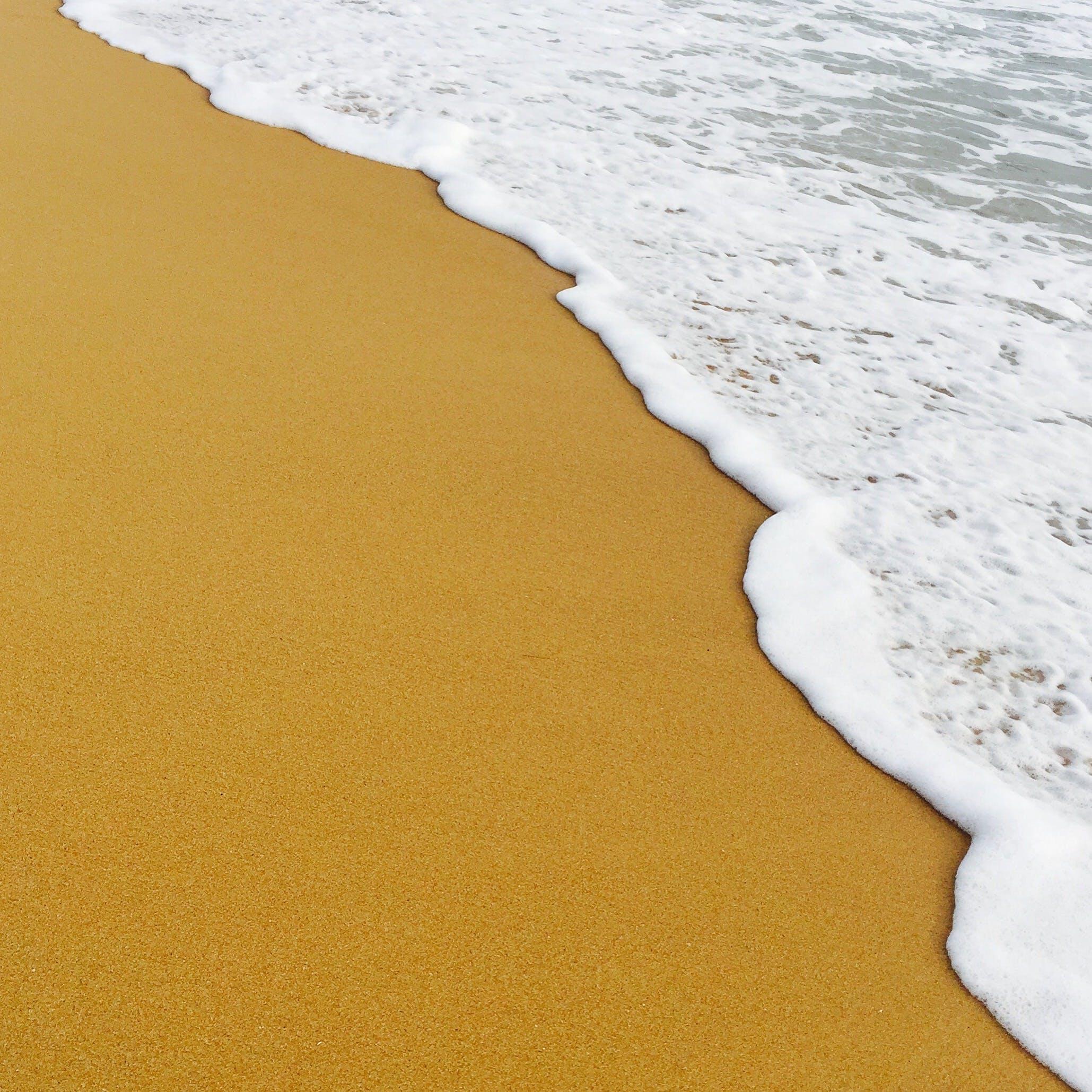 岸邊, 水, 沙灘, 浪潮 的 免费素材照片