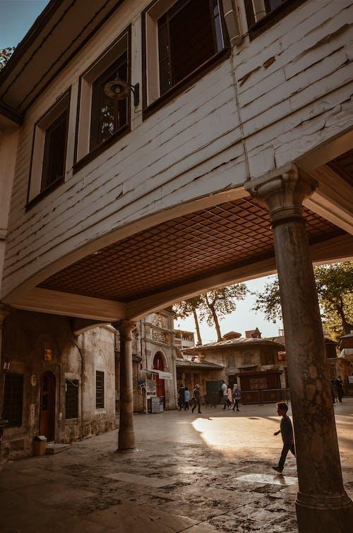 Kostenloses Stock Foto zu architektur, außen, bäume, bürgersteig