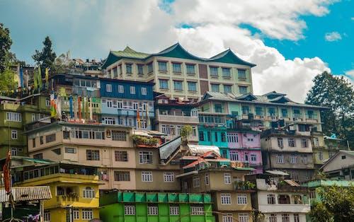 Kostnadsfri bild av färgglada hus, färgrik, gangtok, hus