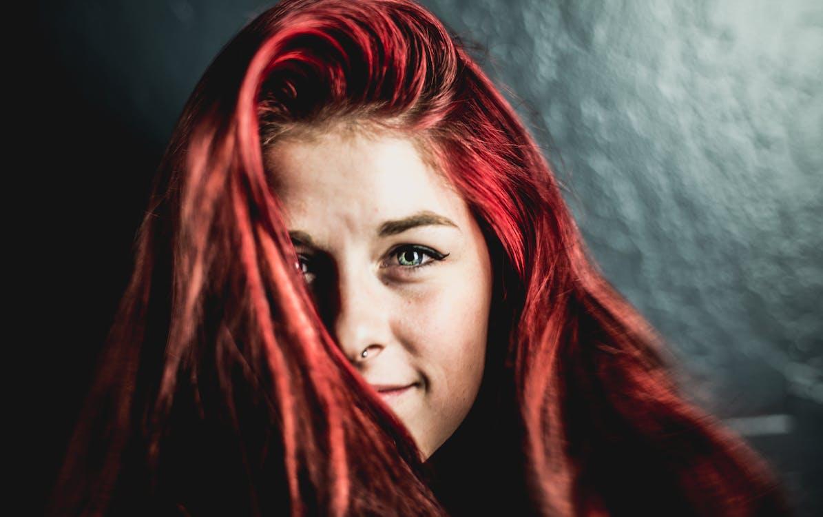 미소 짓는, 빨간 머리, 사진 촬영