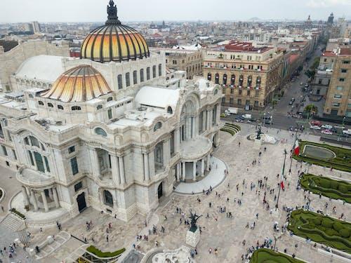 Immagine gratuita di centro città, città del messico, drone, fotografia da drone