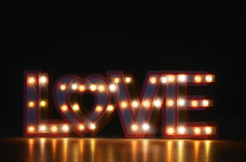Turned-on Love Marquee Light