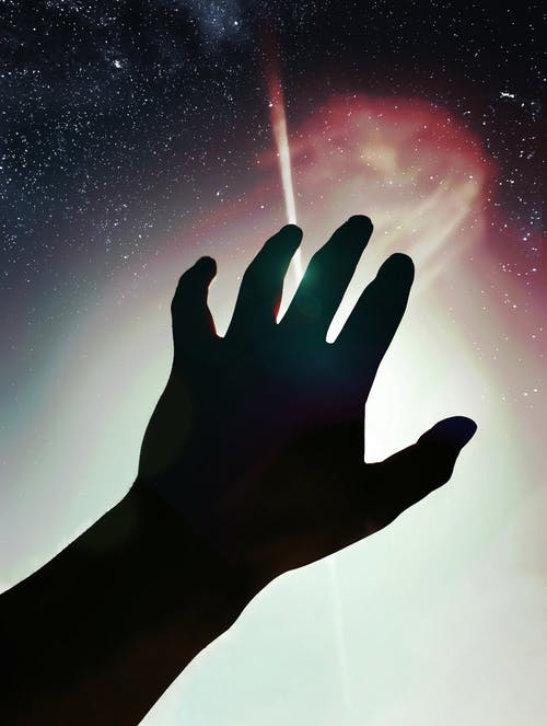 シルエット, ハンド, 宇宙, 流れ星の無料の写真素材