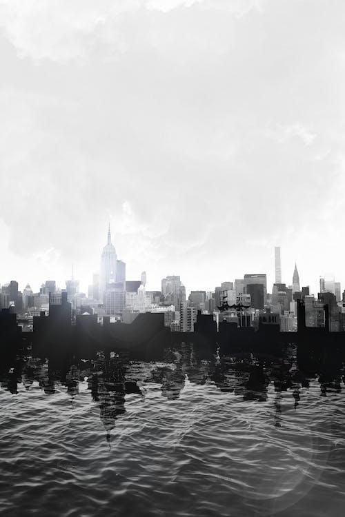 Foto stok gratis air, Arsitektur, awan, bangunan