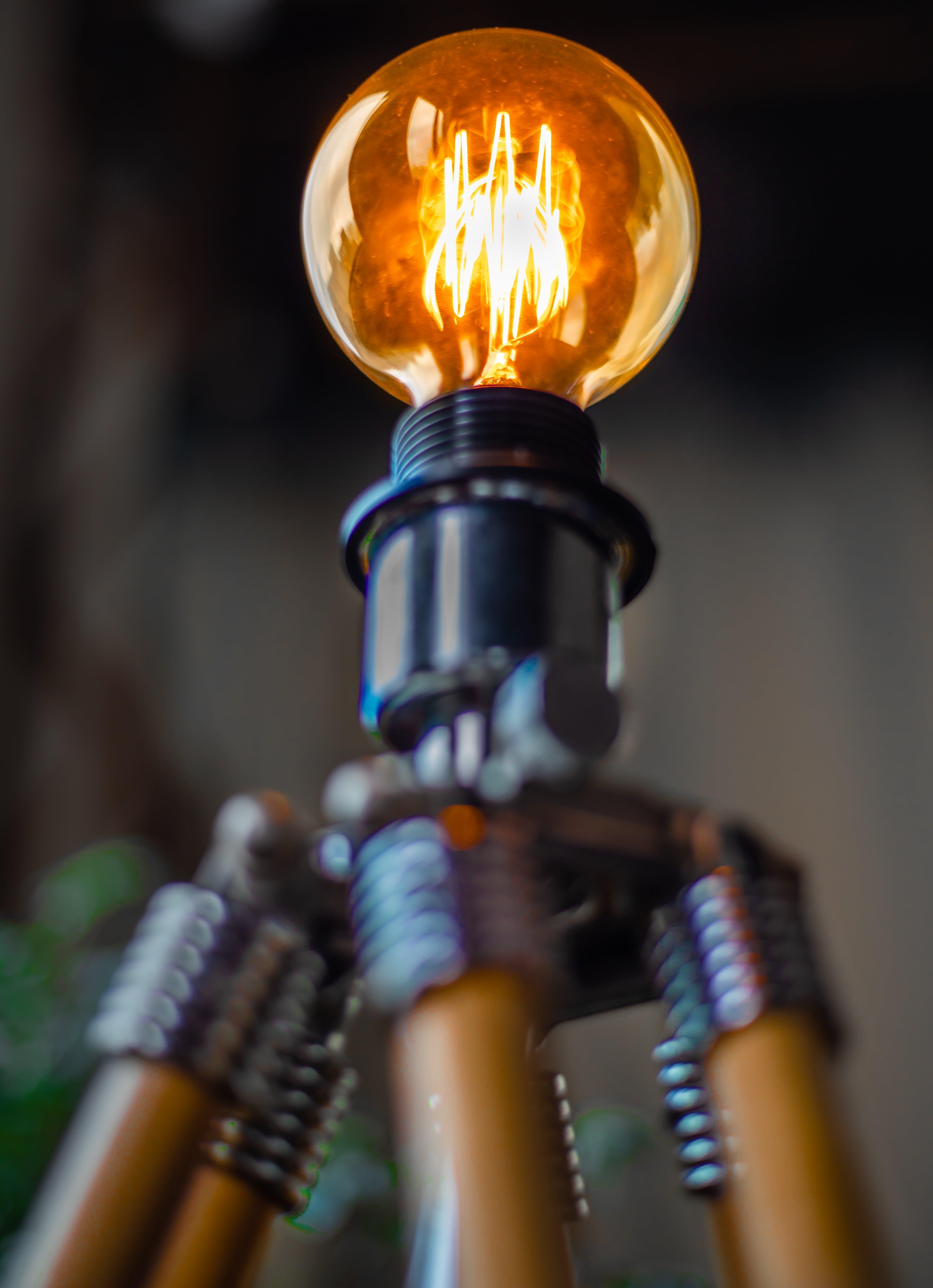 Gratis lagerfoto af belyst, elektricitet, elpære, lys