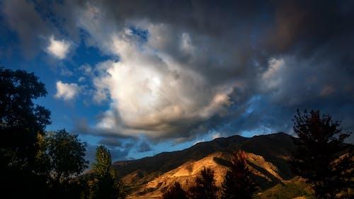 山岳, 日没, 秋, 空の無料の写真素材