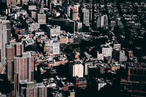 Fotobanka sbezplatnými fotkami na tému budovy, centrum mesta, letecký záber, mesto