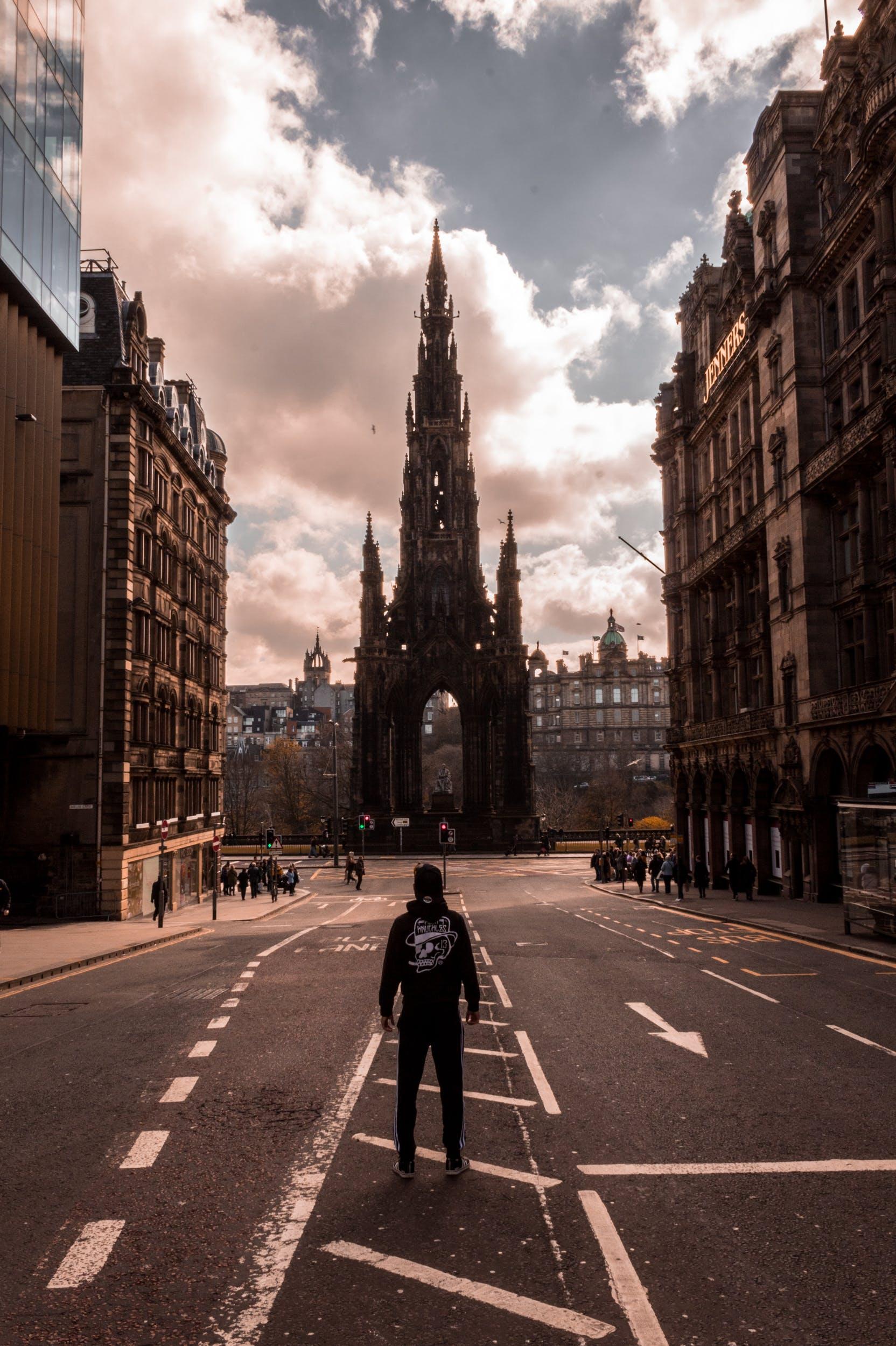 Kostnadsfri bild av arkitektur, byggnader, edinburgh, gata