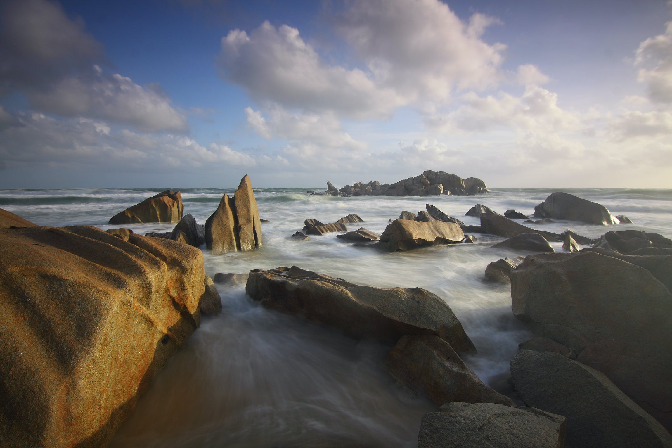 Ocean With Rock Formation