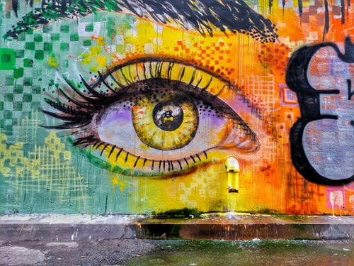 Kostenloses Stock Foto zu bunt, design, graffiti, kunst