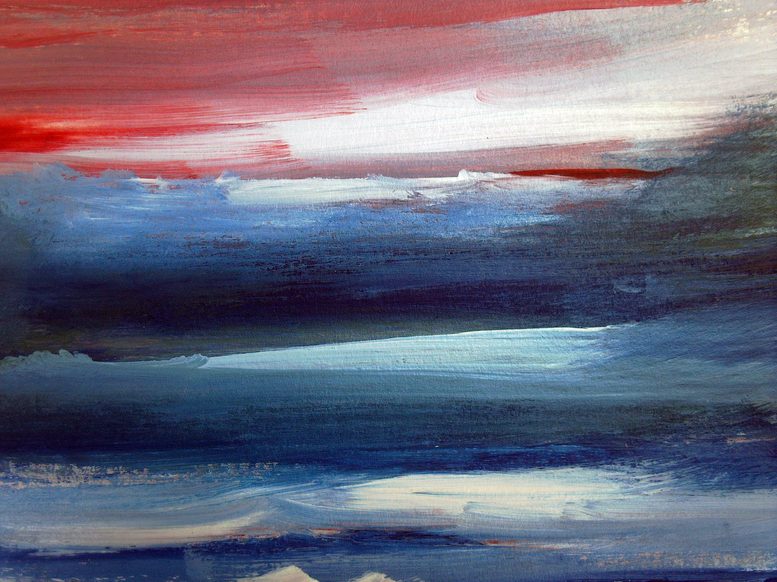 Blue-and-red Abstract Painting