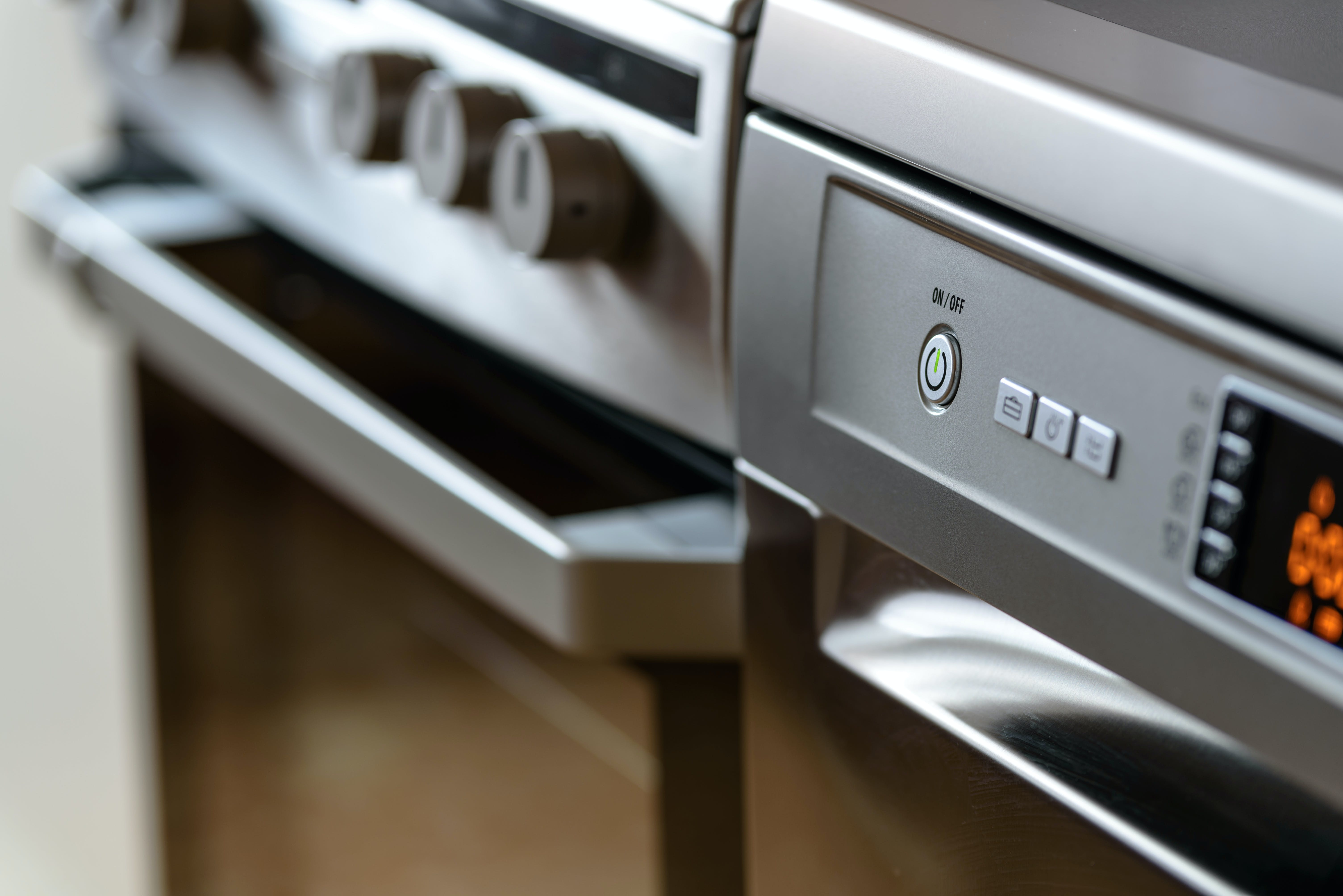 Gray Gas Range Oven in Kitchen