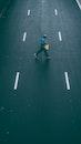 crossing, road, man