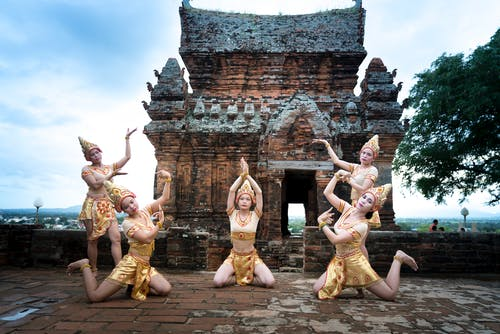 Five Woman About to Dance Beside Building