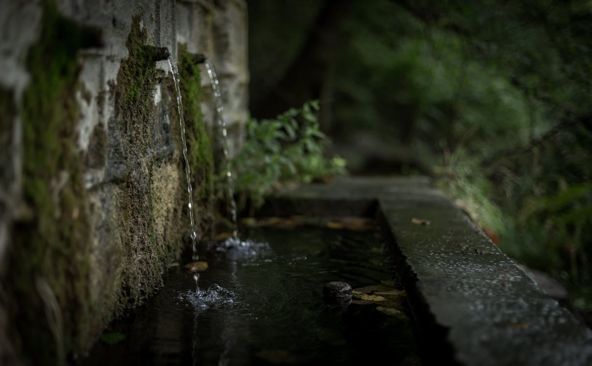aigua, concentrar-se, corrent