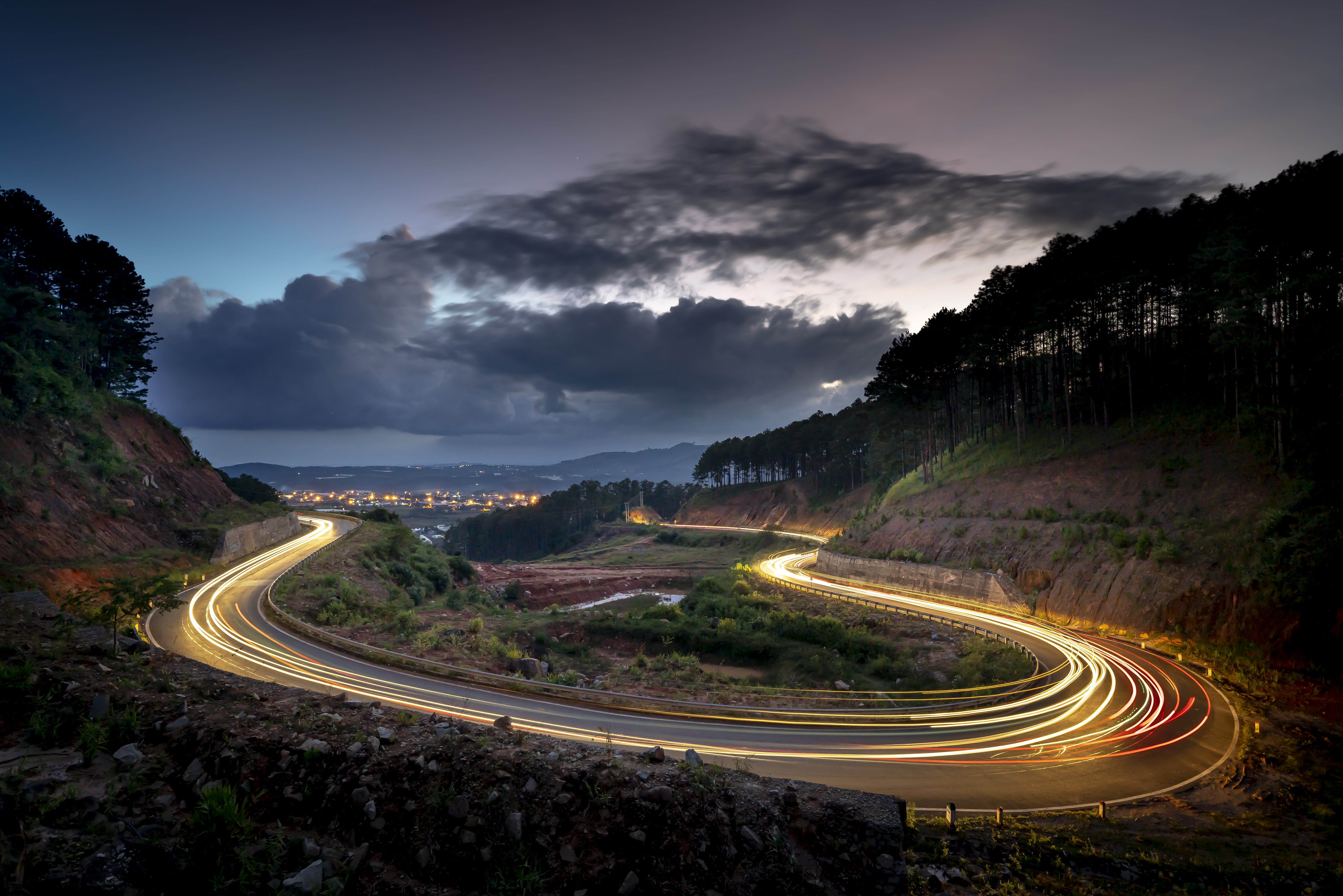 Time Lapse Photography Of Road