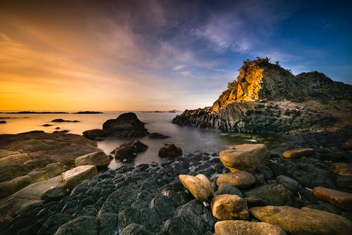 Immagine gratuita di acqua, alba, cielo, crepuscolo