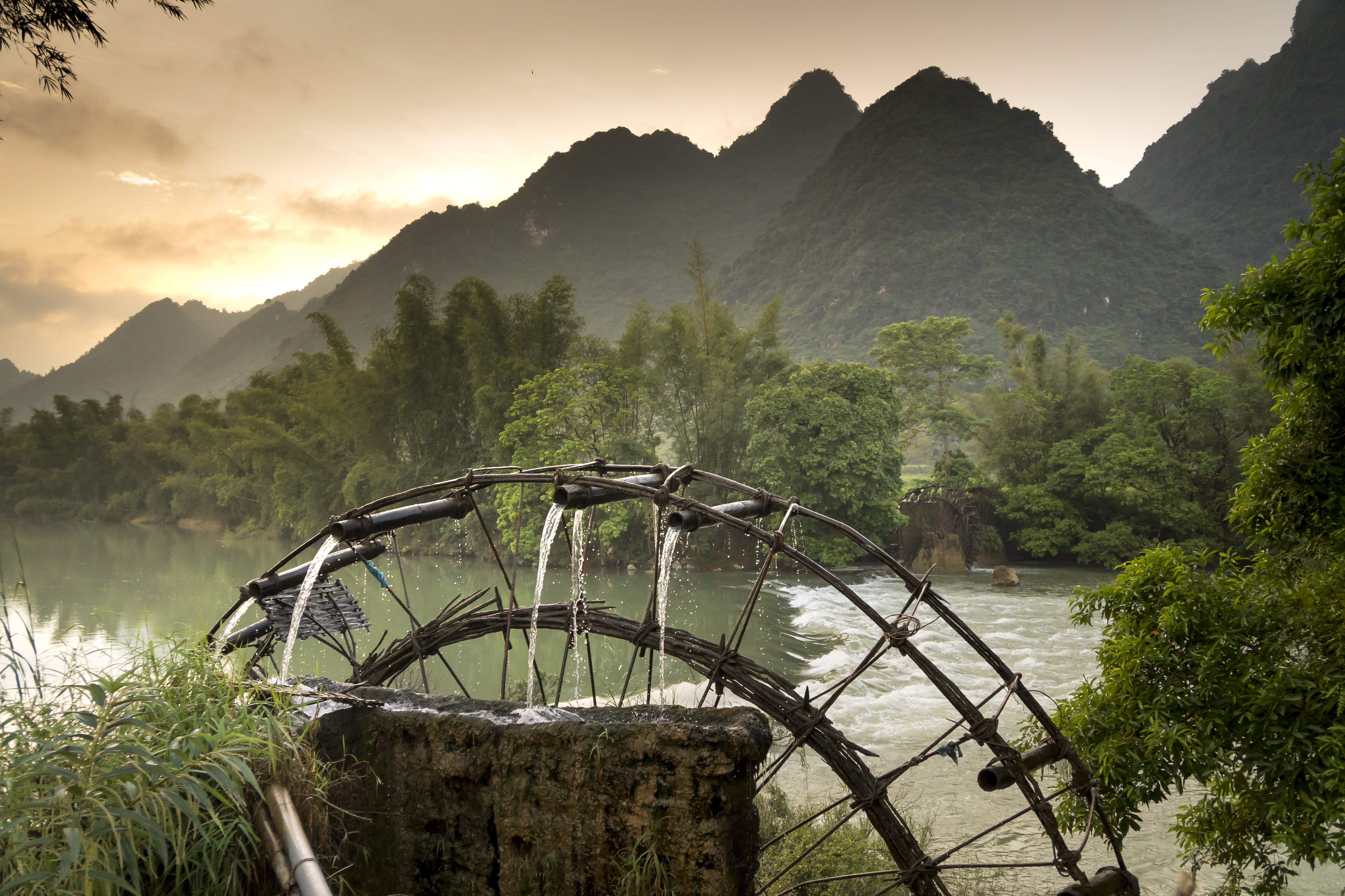 Water Wheel by the River
