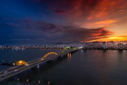 Lighted Concrete Bridge