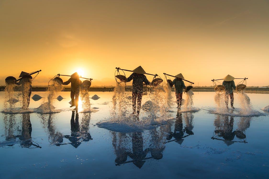 água, ao ar livre, asiáticos