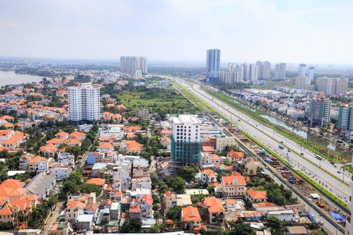αρχιτεκτονική, αστικός, γραμμή ορίζοντα