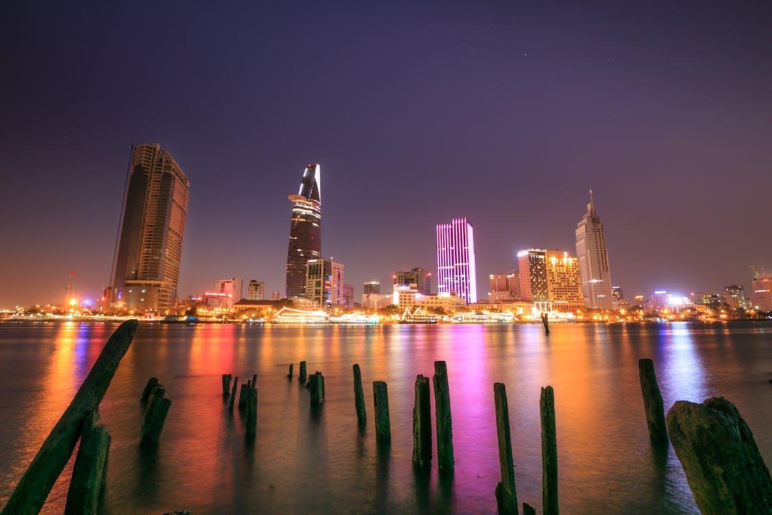 低角度拍攝, 反射, 城市