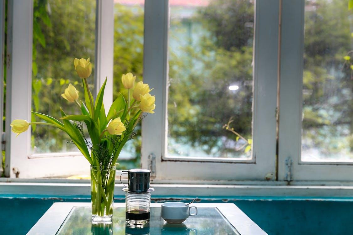 Yellow Petaled Flowers on Vase