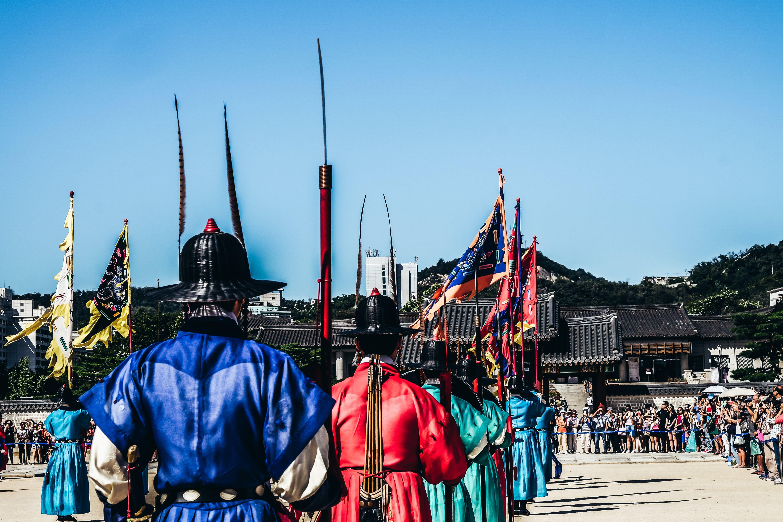 Free stock photo of guards, korea