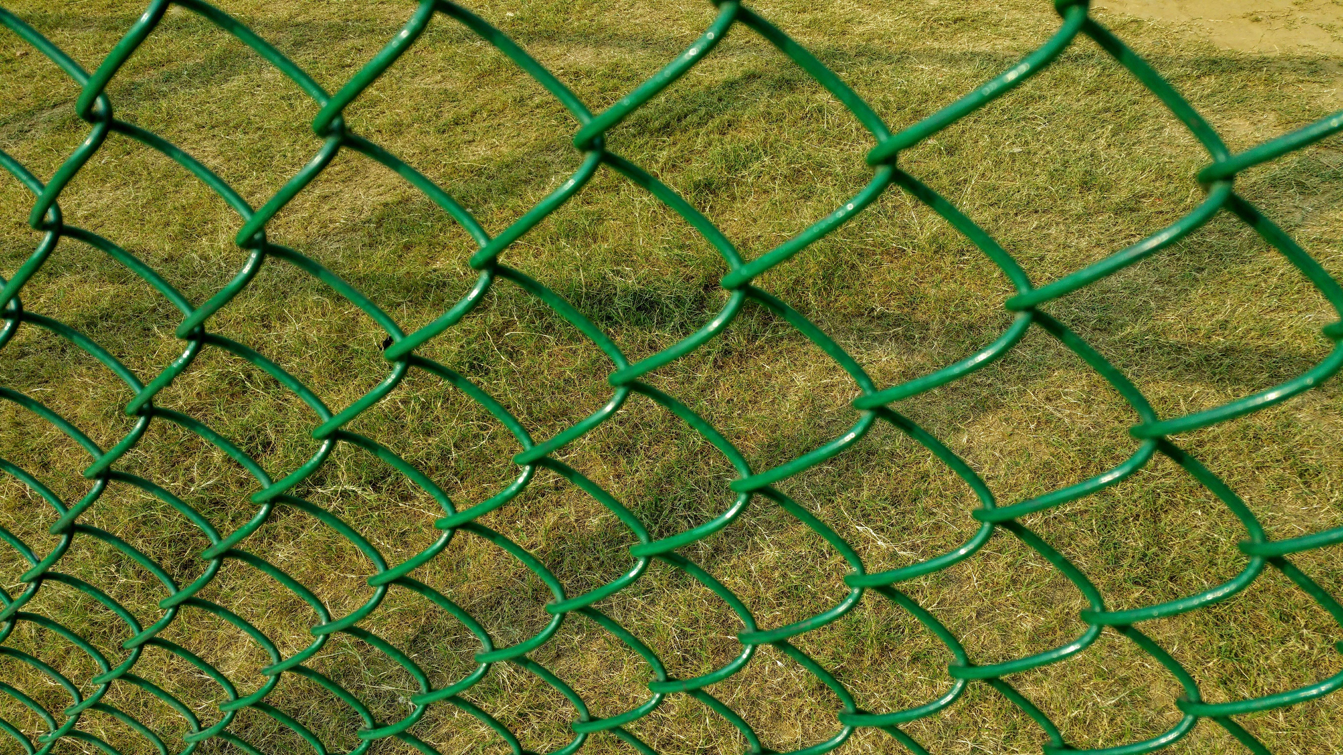 Green Cyclone Fence