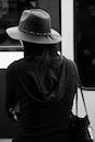 black-and-white, fashion, person
