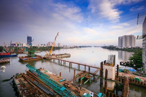 Gratis lagerfoto af anløbsbro, arkitektur, både, bugt